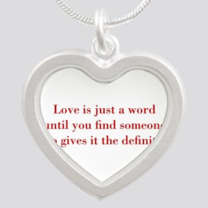 Love-is-just-a-word-BOD-RED Necklaces
